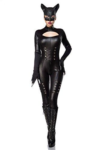 Set completo de disfraz de Catwoman sexi (mono, máscara y guantes), para carnaval schwarz (Sw 16) 38/40