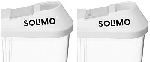 Amazon Brand - Solimo Plastic Storage container Set with sliding mouth (Set of 3, 1100 ml)