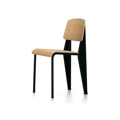 [Authorized Washers] Vitra ヴxitora Standard Standard Chair Design: Jean Prouve Color: Tall Seat (Natural Oak) Frame (dyi-puburakku) Chair Furniture Designer Category Pantone i-muzu