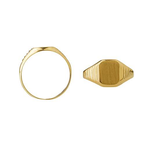 JC Trauringe Damen Siegelring Vintage Ring in Gelbgold in 585 Gold 2899 (56 (17.8))