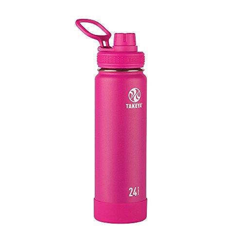 Takeya isolierte Wasserflasche mit Ausgussdeckel 24 oz fuchsia