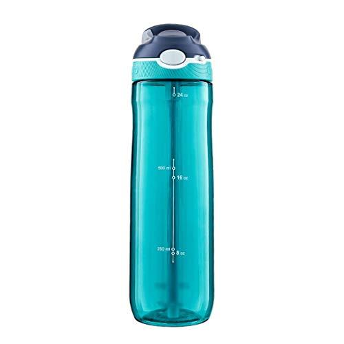 wantanshopping Botella Deportiva Se Divierte la Taza de Bloqueo de Agua de plástico de Verano, Fitness, Outdoor Paja Taza 750ML Botella de Agua Deportiva