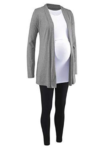 Neun Monate 3tlg. Set Umstandsmode Jacke Shirt Leggings Stillshirt Größe 44/46