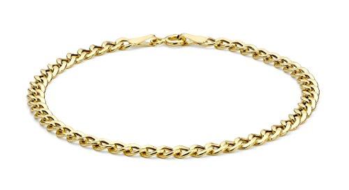 Carissima Gold Bracciale Unisex, in Oro Giallo 9K (375), 18 cm