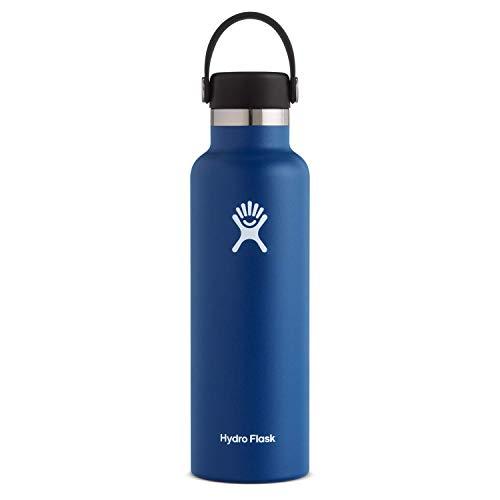 Hydro Flask Trinkflasche 621ml (21oz), Edelstahl und vakuumisoliert, Standard-Öffnung mit auslaufsicherer Flex Cap, Cobalt