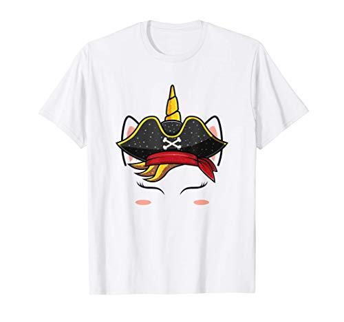 Sombrero pirata de unicornio Disfraz de Halloween para niñas Camiseta