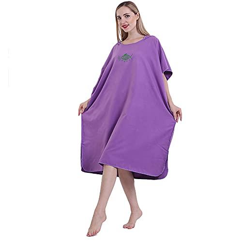 ZENING Toalla de baño con capucha, toalla de baño, toalla de playa, deportes compactos, secado rápido, se adapta a hombres, mujeres y adultos
