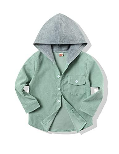 BILISON KIDS 유아 소년 의류 긴 소매 코듀로이 옷깃 버튼 아래로 셔츠 탑 작은 소년 셔츠