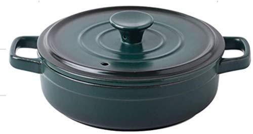 zyh Cazuela de cerámica,Cocotte pequeña de gres,Cazuela Redonda con Tapa,Olla Lenta,Olla Resistente al Calor Olla de Barro,Cazuela de cerámica