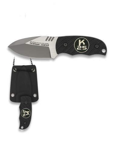 Cuchillo K25 G10 con Funda kydex 12,4 cm para Caza, Pesca, Camping, Ou