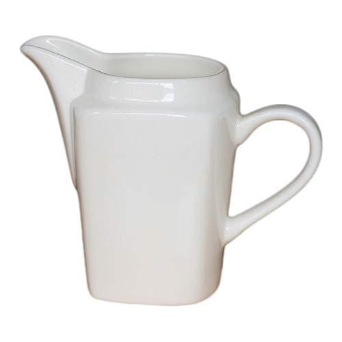 Pot à lait petit Os de style occidental Chine Coupe de lait Céramique Couronne Couronne Courroie Jug Pure Blanc Blanc Cruche Sauce Ménage Sauce Jug Restaurant Steak Juice Juice Barrel 290ml Saucières