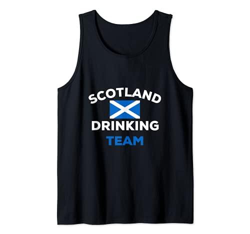 Bandera escocesa del equipo de bebida de Escocia, regalo de alcohol Camiseta sin Mangas