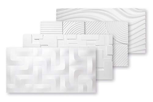 3D Platten Styropor | EPS Paneele | Wand- und Deckenverkleidung | Wasserfest | Dekorplatten | 3 Dimensional | 96x48cm | PD-1
