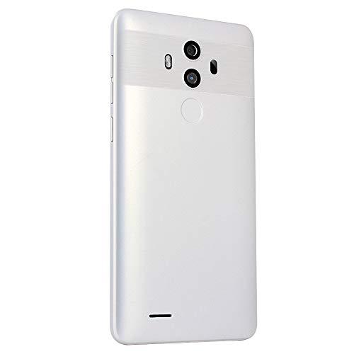 Haihuic Fábrica desbloqueada 3G Smartphone, 5.0 Pulgadas de Pantalla Completa Android 4.4, ROM de 4GB, Dual SIM, Doble cámara, ID de Rostro WiFi SIM-Free 2G / 3G 1700mAh batería Blanco