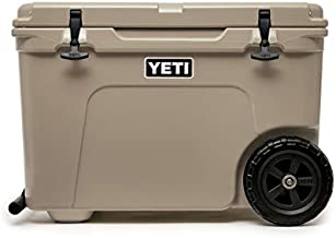 YETI Tundra Haul Portable Wheeled Cooler, Tan