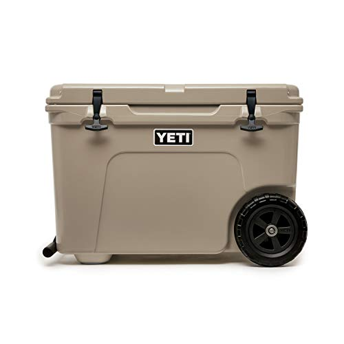 YETI Tundra Haul Portable Wheeled Cooler, Tan