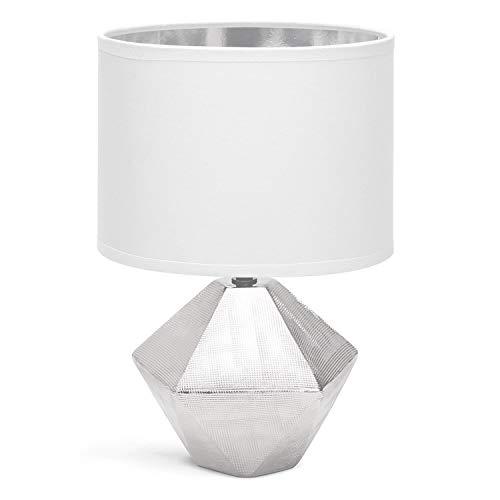 Aigostar - Lámparas de Mesita de Noche, Lámpara de Mesa de Cerámica...