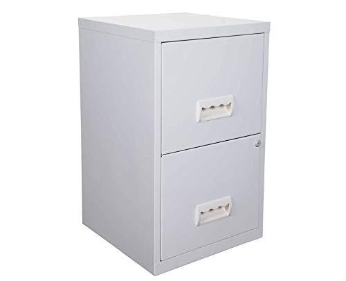 Pierre Henry 95147 - Mueble archivador de 2 cajones, color gris