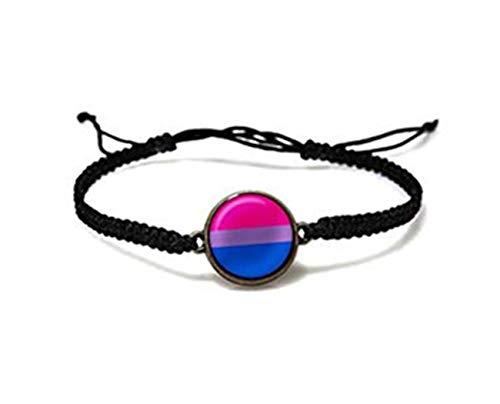 Bisexual Pride Bracelet, Bisexual Jewelry, Pride Bracelet,Resin Bracelet, Pride Pink Purple Blue Blue Bracelet,Pride Jewelry,Pride Flag…