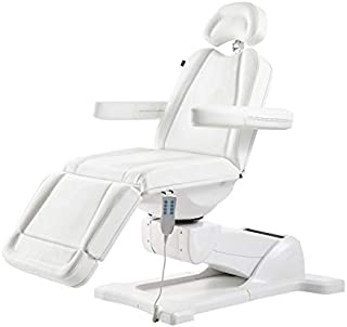 Beauty Full Electrical 4 Motor Podiatry Chair Facial Massage Dental Aesthetic Reclining Chair All Purpose Bed - PAVO -White