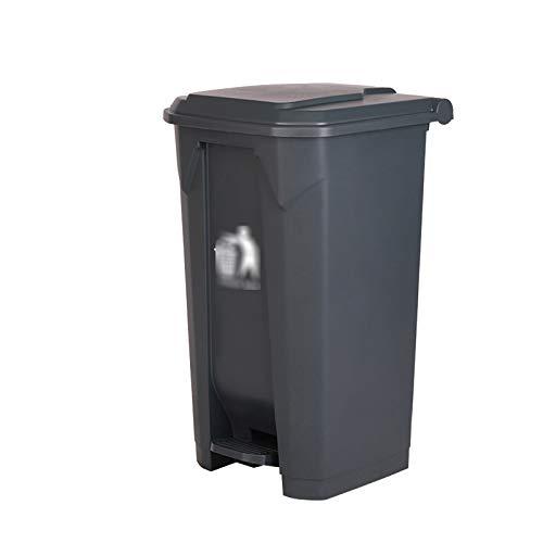 Outdoor trash can CSQ- Poubelle De Tri 87L, Poubelle à Commande Au Pied avec Couvercle Poubelle Extérieure De Recyclage des Ordures De Restaurant De Cuisine à La Maison(Size:87L,Color:Gris)