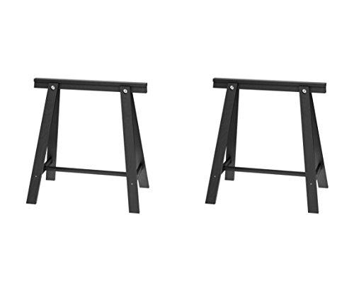 IKEA ODDVALD Bock, Schwarz, 2 Stück