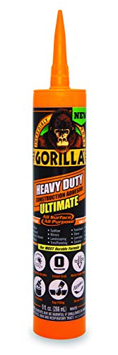 Gorilla Heavy Duty Ultimate Construction Adhesive, 9 ounce Cartridge, White, (Pack of 1)