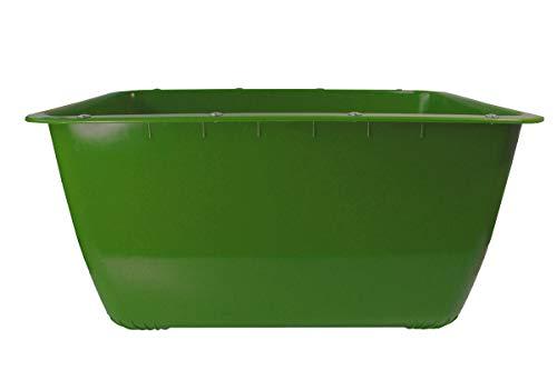 200 Liter Mörtelkübel Grün Mörtelwanne Blumenkübel Wasserbehälter, Futtertrog, Wildwanne, Futterwanne mit Stahlschiene zur seitlichen Verstärkung