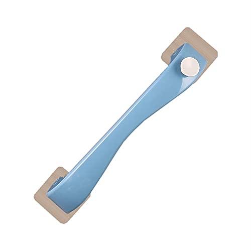 Toallero Rack de Toallas de baño de Punch-Función multifunción para Almacenamiento Organizador de baño Montado en la Pared (Color : Blue, Size : One Size)