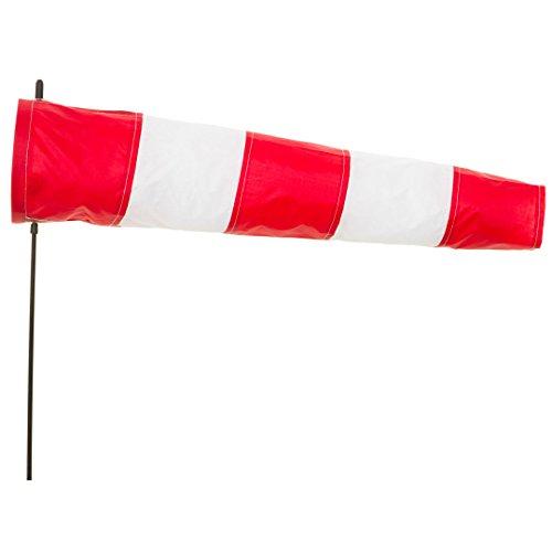 HQ Windspiration 109200 - Windsock Airport 60, UV-beständiges und wetterfestes Windspiel - Höhe: 100 cm, Länge: 60 cm, Ø: 13 cm, inkl. Aufhängung und Bodenanker
