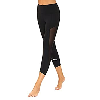 romansong Mesh Yoga Leggings with Pockets for Women High Waist,Women s Workout Sexy Athletic Run Yoga Pants with Design