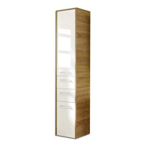 Pelipal 382 Lagos Hochschrank, Holzdekor, Eiche Natur, 33,0 x 40,0 x 187,0 cm