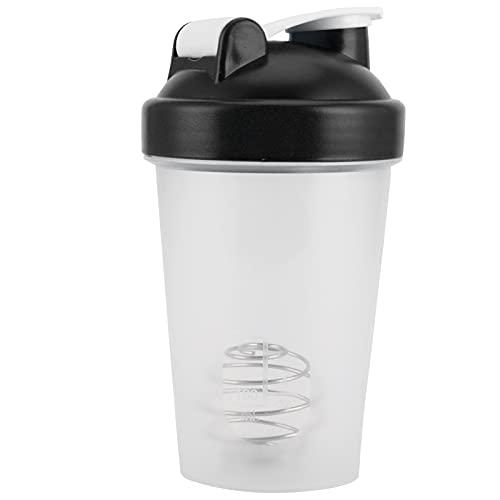 Hervidor deportivo, botella batidora 400 ml Botella deportiva de plástico Taza de agua para gimnasio para deportes al aire libre(black)