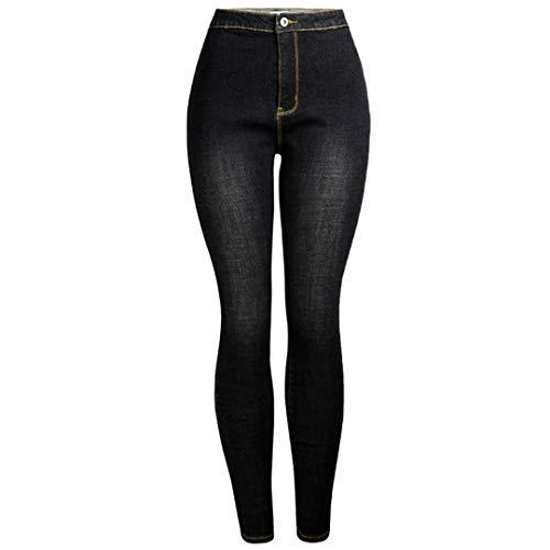 JCNHXD Otoño Invierno Jeans Mujer Slim Skinny Jeans Mujer Sexy Lápiz Pantalones de Mezclilla Black...