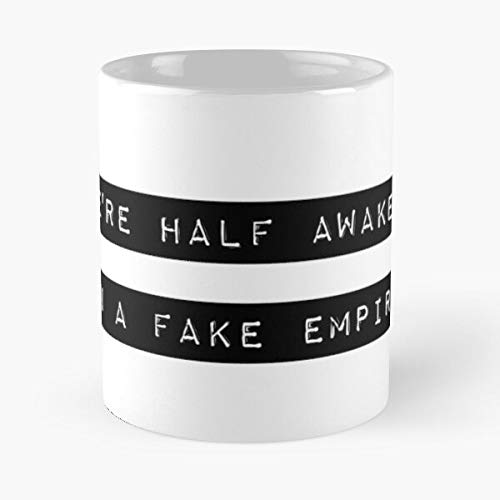 Band Music The Lyrics Matt Album Will Fake National Me Empire Find Trouble Berninger Taza de café con Leche 11 oz