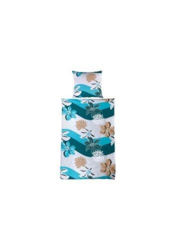 Blaue Bettwäsche Blumenmotiv von ECOREPUBLIC HOME