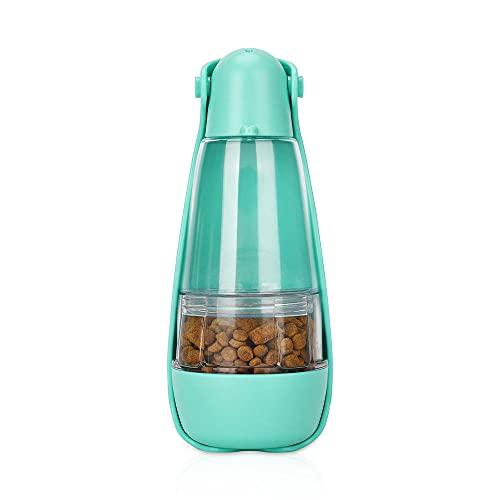 HAITOY Taza Agua Mascotas,Botella Agua Mascotas Jaula Taza de Agua Doméstica Multifuncional a Prueba de Fugas Alimentador de Comida para Cachorros al Aire Libre para Mascotas Caminar