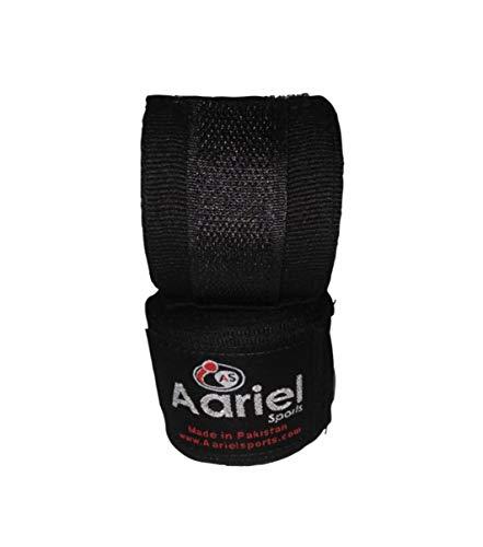 Boxbandagen 180 Zoll mit Verschluss - Elastische Hand- und Handgelenkstütze für Muay Thai Kickboxen Training Gym Workout oder MMA für Männer Frauen Kinder Elastische Baumwolle Handbandagen