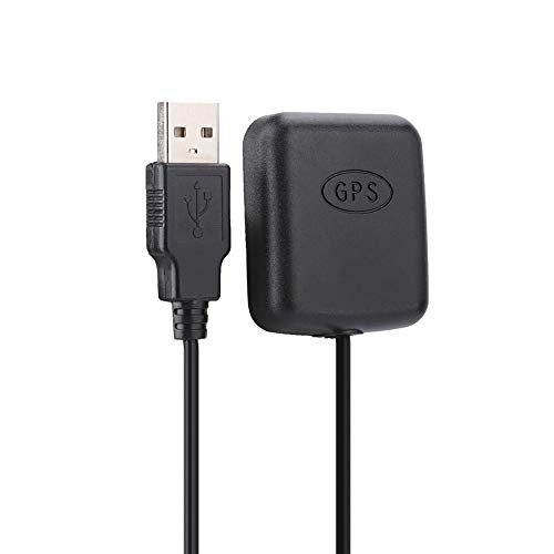 Ruining Antena GPS, Precisión de Posicionamiento, Antena GPS para Coche, Equipada con Cable Rg174 de 3 Metros, para Adaptador USB GPS para Coche