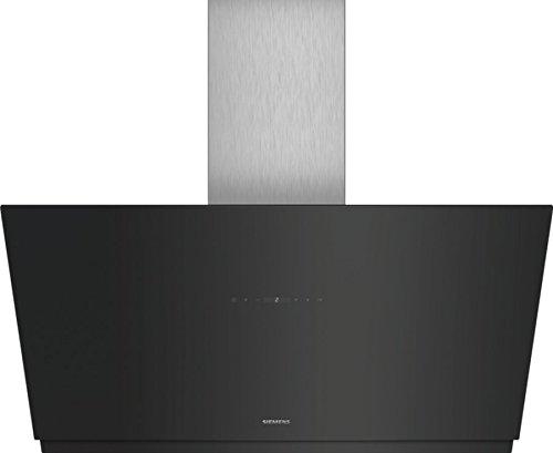 Siemens LC98KMP60 Dunstabzugshaube/Wandhaube / 89 cm/Metall-Fettfilter/Boost-Funktion/Schwarz