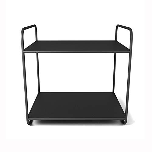 Badezimmerregale Regal Stauraum Regal Lagerregal Küchenregal Schwarzes Mini-Regal Arbeitszimmer-Deko-Regal Kreatives Regal Für Wohnzimmer (Color : Black, Size : 25 * 34 * 35cm)