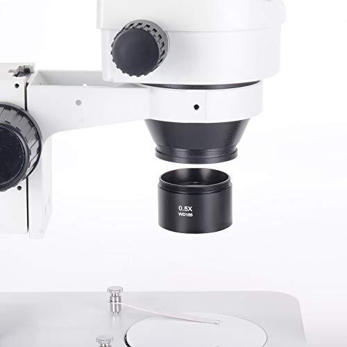 0.5X WD165 SZM Auxiliary Objective Lens Zoom Stereo Microscope Thread 48mm Binocular Microscope Trinocular Microscope (0.5X WD165)