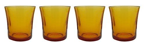 Duralex Lys Vermeil 1010DC04A0111 - Juego de 4 vasos (cristal, 160 ml), color ámbar