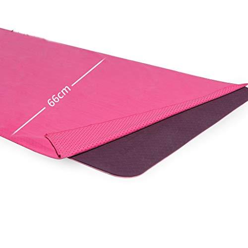 Hyococ Alfombra de Yoga Toalla De Yoga For Hombres Y Mujeres Ensanchada Toalla De Terciopelo De Doble Cara Larga Y Húmeda Húmeda Manta De Yoga Toalla De Sudor esteras gimnasias (Color : Pink)
