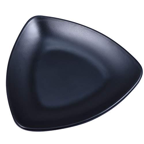 Cabilock Plato de Joyería de Melamina Bandeja de Baratija Decorativa Anillo Negro Plato Centro de Mesa Organizador de La Joyería de Mesa Llavero para Collar Pendientes