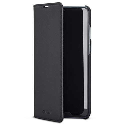 CASEZA Huawei P30 Lite Funda Negro Tipo Libro Piel PU Case Cover Carcasa Plegable Cartera Oslo Piel Vegana Premium para Huawei P 30 Lite (6.1') Original - Ultrafina con Cierre Magnético