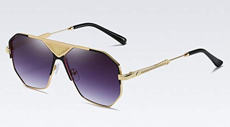 CQYYDD Mnner Quadrat Sonnenbrille Uv400 Für Frauen Schwarz Gold Metallrahmen Sonnenbrille Für Mnner Braun