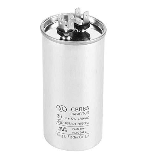 Kondensator CBB65A-1, zylinderförmiger Motor-Kondensator 30uF Wechselstrom-450V für Klimaanlagen-Motor-Kühlraum