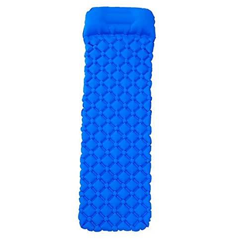 apofly El Dormir Inflable Mat Impermeable Ultraligero De Dormir Que Acampa con La Almohadilla De Ratón Azul Clara