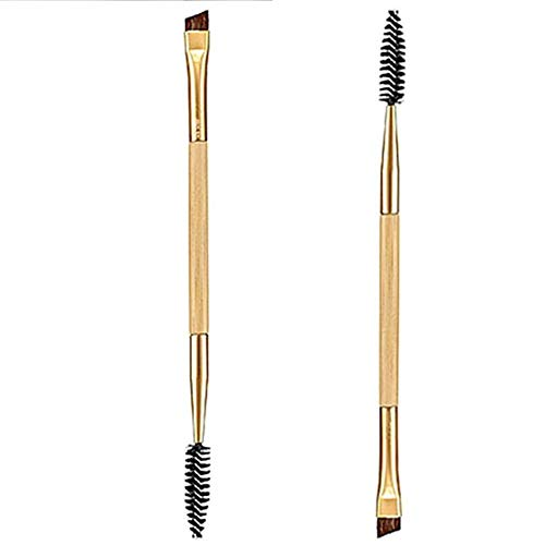 NMT Femmes Dame Sourcils Eyeliner Coupe en Angle Double Tête Maquillage Brosse Fibre Cosmétique , 1 Pcs